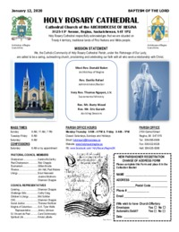 Holy Rosary Bulletin 1-12-2020