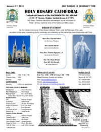 Holy Rosary Bulletin 01-17-2021