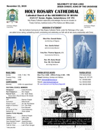 Holy Rosary Bulletin 11-22-2020